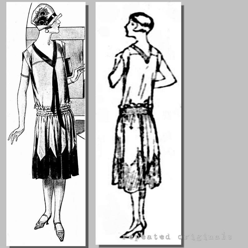 1920s Patterns – Vintage, Reproduction Sewing Patterns Ladys Summer Dress - 37