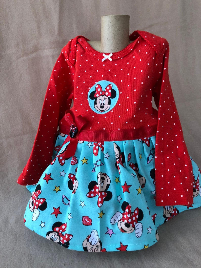 girls  months onesie dress Minnie Mouse onesie dress  infant girls clothes baby girl dresses