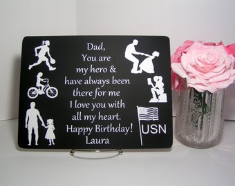 Gift For Dad From Daughter Personalized Fathers Birthday Christmas Children Son