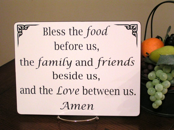 Bless The Food Before Us Sign Kitchen & Dining Room Decor | Etsy