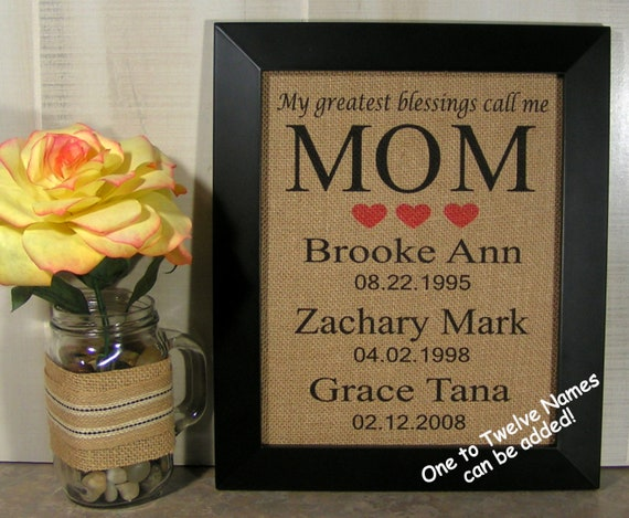 Birthday Gift For Mom From ChildrenGifts MomPersonalized