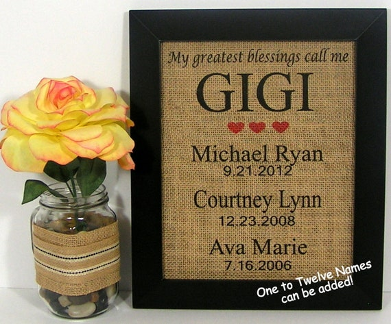 Gifts For Gigi Birthday Gift For Grandmother Grandma