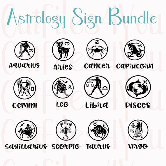 Calendrier Du Zodiaque.Dessins De Svg Signe Astrologie Signes Du Zodiaque Horoscope Svg Bundle Horoscope Horoscope Svg Des Fichiers Vectoriels Telechargement Immediat