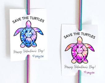 Save The Turtles Straw Tags. Ex-Straw Special. Sip Sip Hooray. VSCO Valentine. Class School Valentine. Teen Tween Kid Valentine Printable.