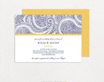 Couples Shower Invitations - Bridal Shower Invitations -  Wedding Shower - Flourish - printed or digital