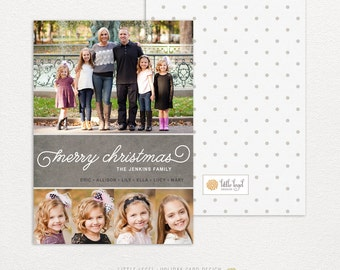 Personalized holiday cards- photo christmas cards- merry christmas collage