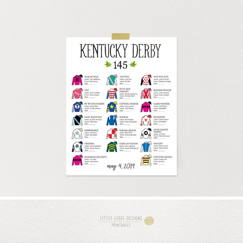 graphic relating to Printable List of Kentucky Derby Horses identify KY Derby Silks Lineup *5/4 Up to date listing* 16 x 20 8 x 10. Black. Kentucky Derby Tote Board. Kentucky Derby Get together Printables. Do-it-yourself.