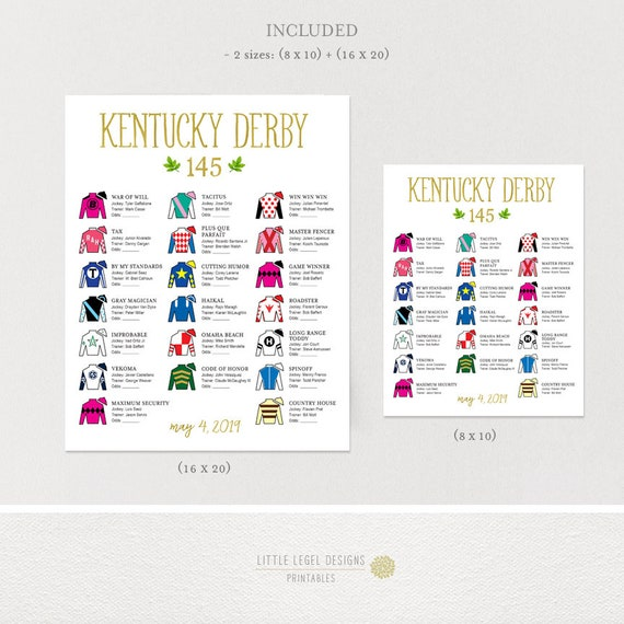 This is a picture of Dramatic Kentucky Derby Post Positions Printable
