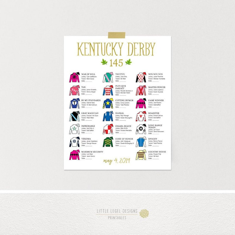 photograph about Kentucky Derby Printable Lineup titled KY Derby Silks Lineup *5/4 Current listing* 16 x 20 8 x 10. Gold. Kentucky Derby Tote Board. Kentucky Derby Social gathering Printables. Do it yourself.