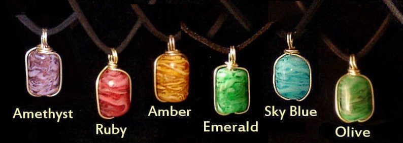 Hand Made Glass Necklaces  Lampwork Glass Pendants  Glass image 0