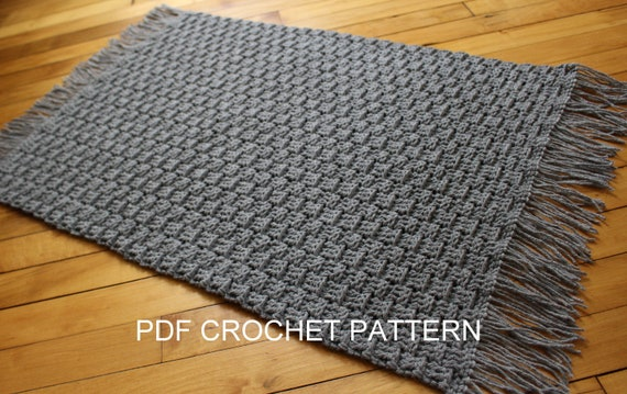 Crochet Pattern Textured Crochet Rug Pattern Easy Crochet Etsy