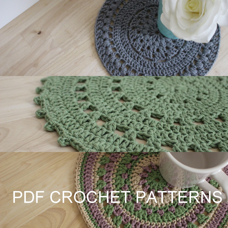 Pattern Crochet Doily Pattern Crochet Table Mat Pattern Etsy