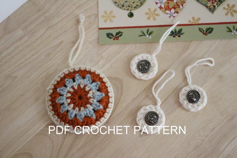 Pattern 2 In 1 Crochet Christmas Ornament Pattern Easy Crochet Ornament Patterns Crochet Mandala Ornament Pattern Crochet Ornaments