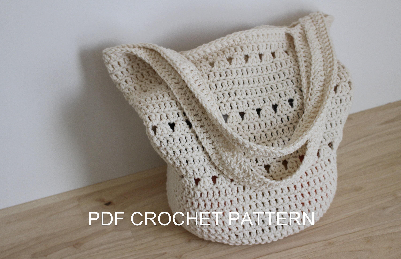 Crochet Pattern Easy Crochet Tote Bag Pattern Boho Etsy