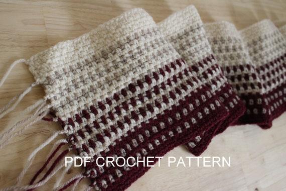 Crochet Pattern Crochet Scarf Pattern Easy Crochet Pattern Etsy