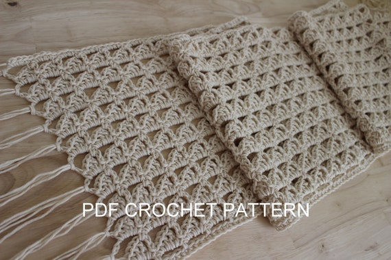 Crochet Pattern Easy Crochet Summer Scarf Pattern Boho Etsy