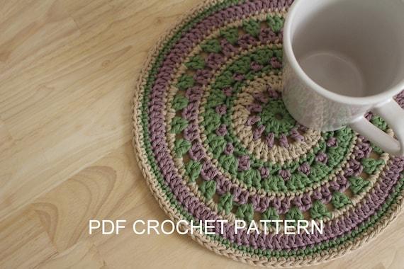 Pattern Crochet Mandala Pattern Crochet Table Mat Pattern Etsy