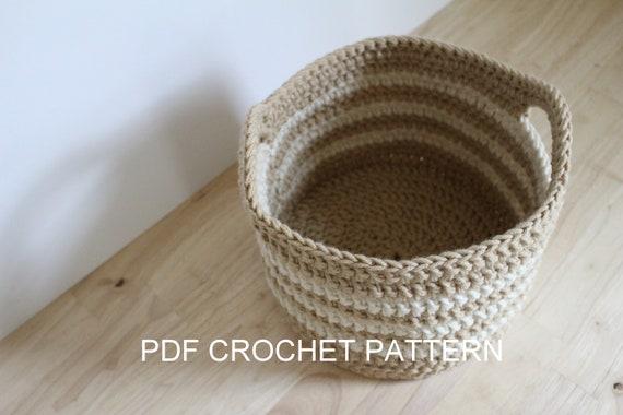Crochet Pattern Chunky Crochet Basket Pattern Crochet Etsy