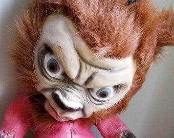 Vintage 1970s Rubber Werewolf Doll