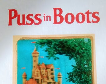 Vintage 1971 Puss In Boots Puppet Storybook