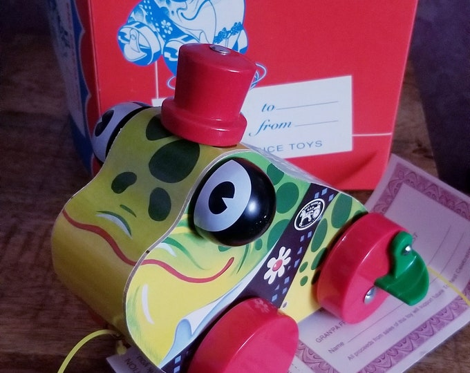 Featured listing image: Vintage 1994 Fisher Price Commemorative Gran Pa Frog