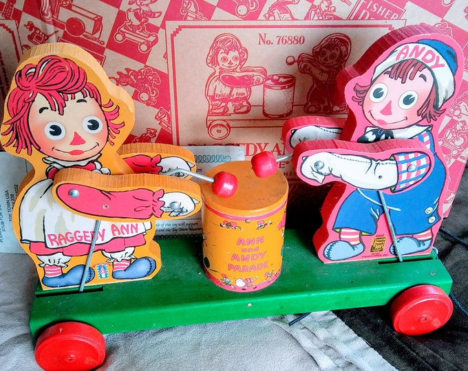 Featured listing image: 1997 Vintage Fisher Price Raggedy Ann and Andy #76880