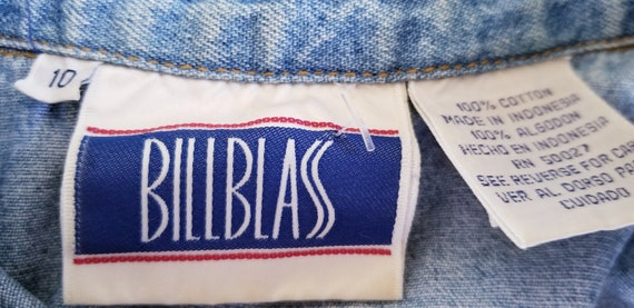 Vintage Bill Blass Denim Dress - Size 10