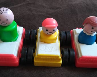 Vintage Fisher Price Little People Vehicle LOT