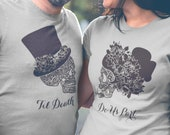 Til death do us part, Dia de los muertos shirt, Hubby wifey shirts, Honeymoon shirts for couples, Just married shirts, Bride groom shirts