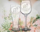 Toasting glasses, Sugar skull, Day of the dead, off beat bride, Dia de los muertos, Skull wedding, New Mexico, Beer ceremony, wine ceremony