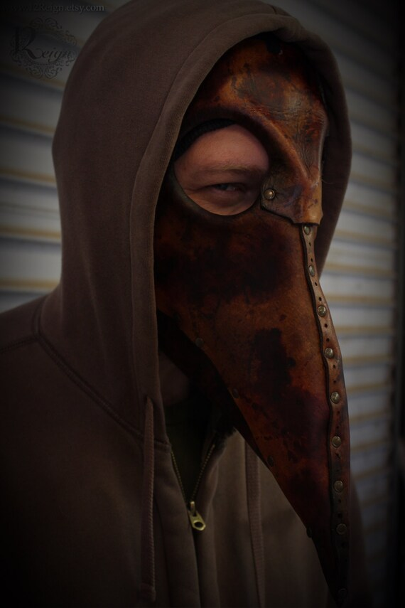 "Leather mask, Steampunk ""Plague Doctor"""