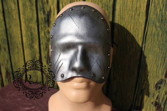 Leather Blackout Mask - Male