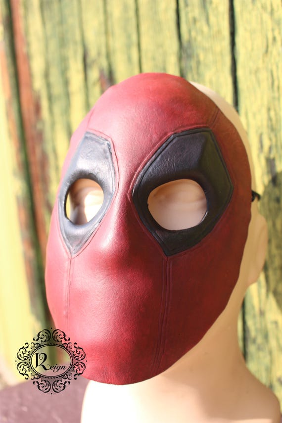 Deadpool Mask - Leather - Chimichangas NOT included!