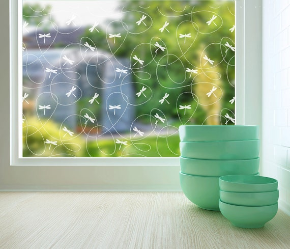 Dragonflies Sheer Window Film Large 48 In X 84 In Etsy