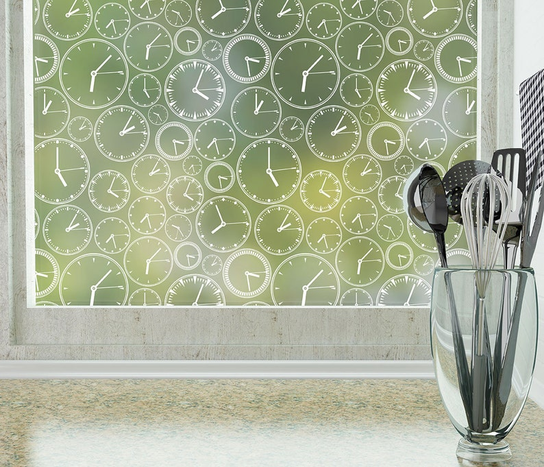About Time Privacy Window Film (Non-adhesive) - Standard 36 in  x 48 in
