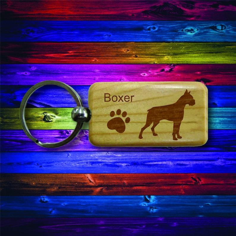 Boxer Wooden Keychain