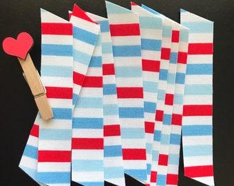 10 Count, Fabric Washi, Stripes