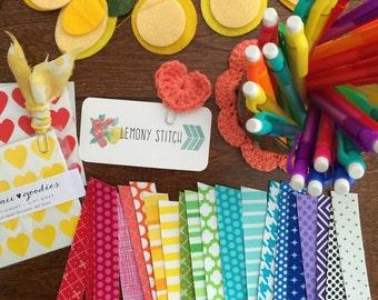 Bulk Order Washi Pack - 50+ count, Lemony Stitch Fabric Washi