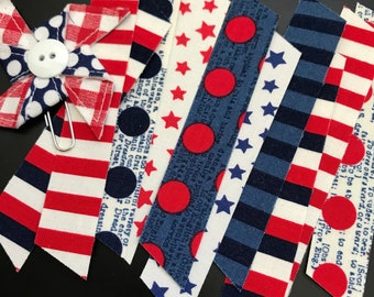 10 count patriotic washi, dots stripes and stars