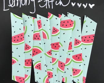 10 Count, Fabric Washi, Watermelon on Blue