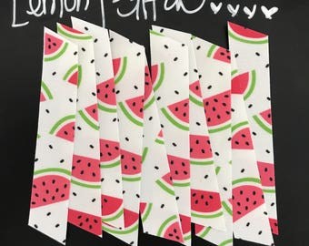 10 Count, Fabric Washi, Watermelon on White