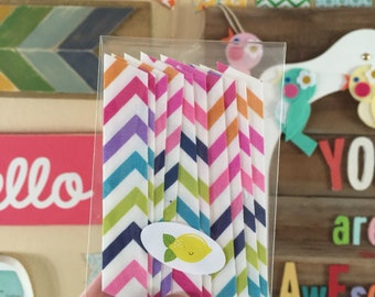 10 strips, Colorful Chevron Fabric Washi Tape