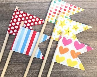 Flags, Summer mix, Lemony Stitch Flags