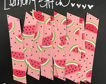 10 Count, Fabric Washi, Watermelon on Pink