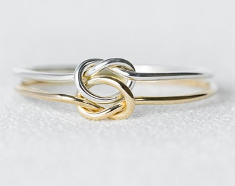 Double Knot Ring   Eternity Ring Love Ring Gold Stacking Rings Gold Ring Silver Ring Dainty Ring Minimalist Ring Delicate Ring Thin Ring