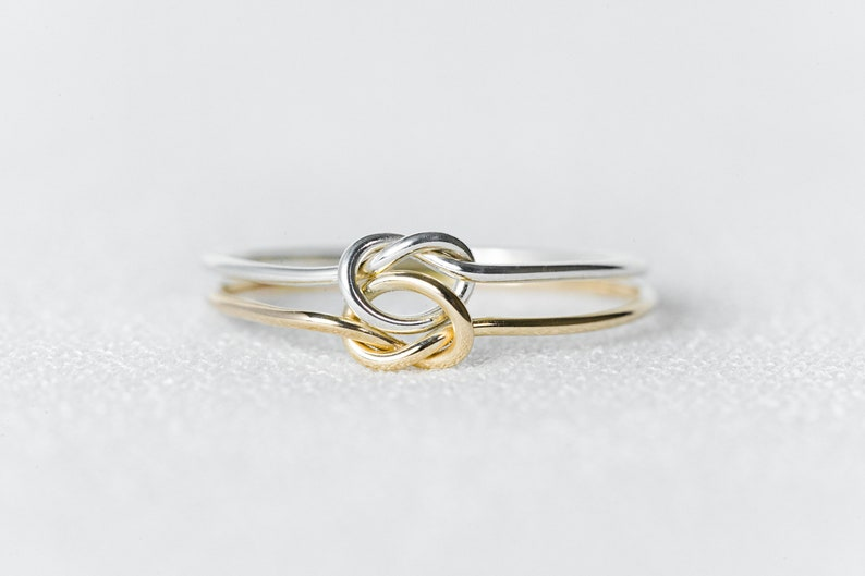 Simple Ring Delicate Ring Solid 14k Gold Stacking Knot Ring Love knot Ring Dainty 14k Solid Yellow Gold Minimalist Stackable Rings