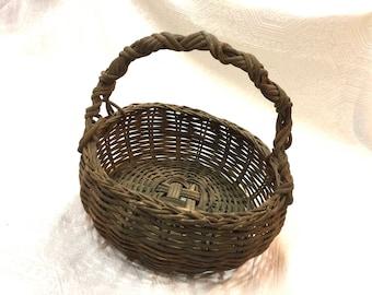 Perfect Country Bread Basket Wicker Dark Brown Storage Container (10x10x4 )  sc 1 st  Etsy & Dark wicker basket | Etsy