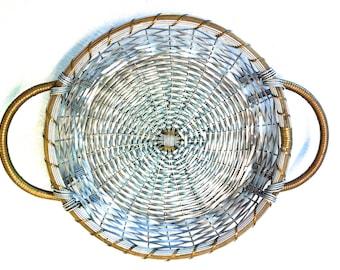 Woven Mesh French Metal 2 Handle Basket 9\  Pie Plate Hot Plate Holder - 3  sc 1 st  Etsy & Pie plate holder | Etsy