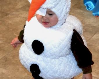Olaf Costume Pattern 12, 18, 24/2T, 3T, 4T