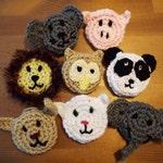 Animal Pins, Custom Animal Party favors, Crochet Pins, Dog Lover, Animal Lover, Birthday Party Favors, Panda, Lion, Pig, Elephant, Owl Bunny